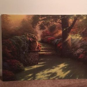 Thomas kinkade Giclee. With hand painted accents